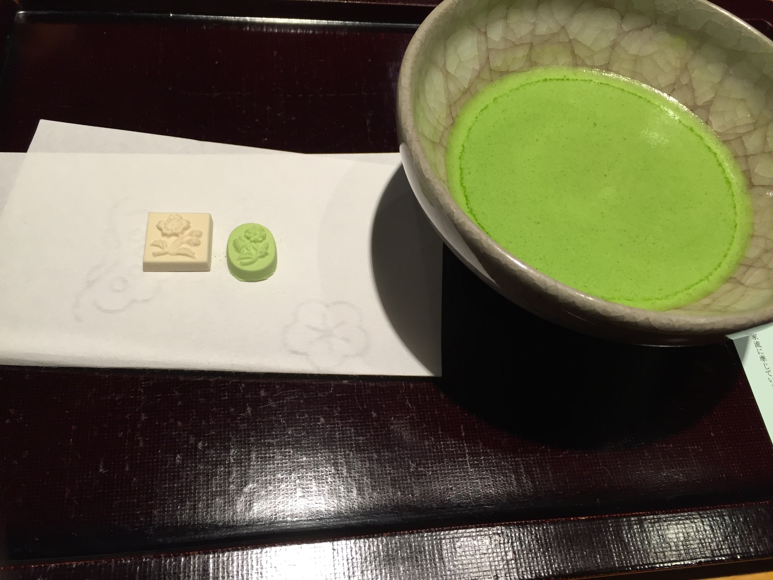 Tea time! Matcha and the tea ceremony at Kyoto.