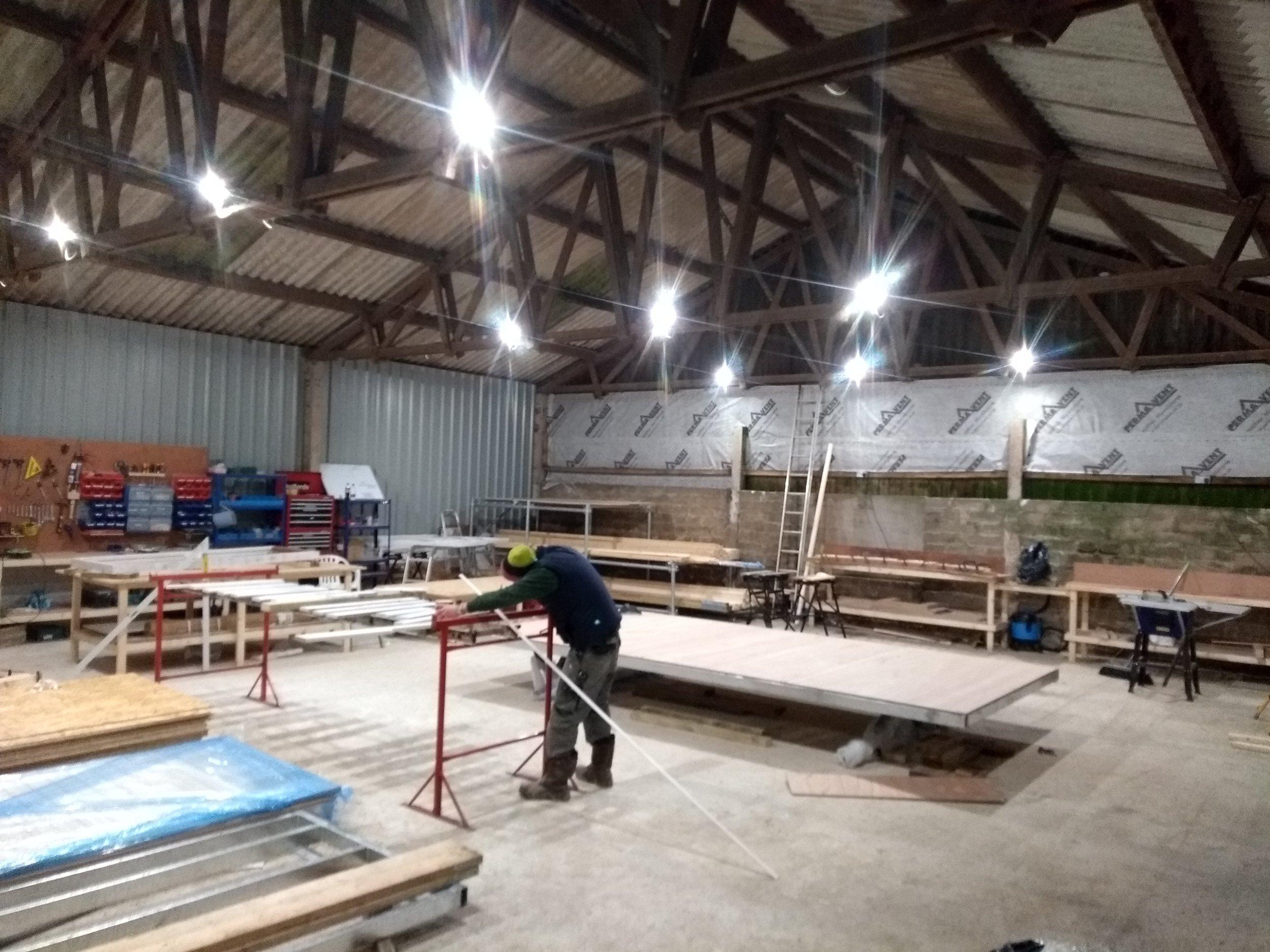 Cornish shepherds hut workshop