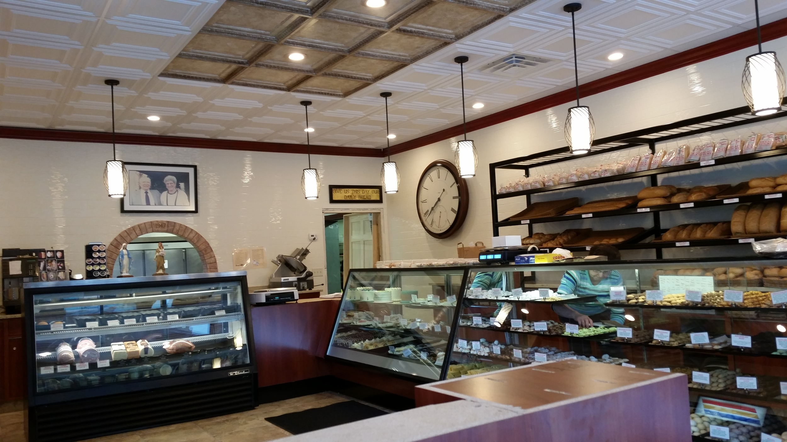 Remodeled in just one week, Peter Sciortino's Bakery continues to be one of Milwaukee's premier historic bakeries since 1947.