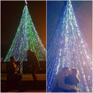 A mid-tour proposal on our Christmas Lights & Desserts Tour