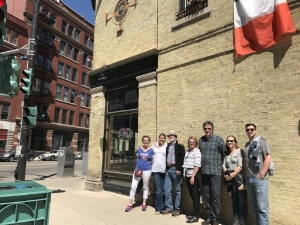 Stopping in the Historic Third Ward & The Irish Pub for a Bloody Molly during a recent Bloody Mary Brunch tour