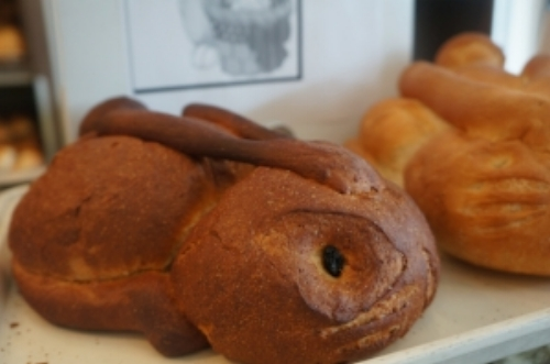 Special bunny shapes bread loaves from Canfora Bakery. Pre-order required; $6.99 each.