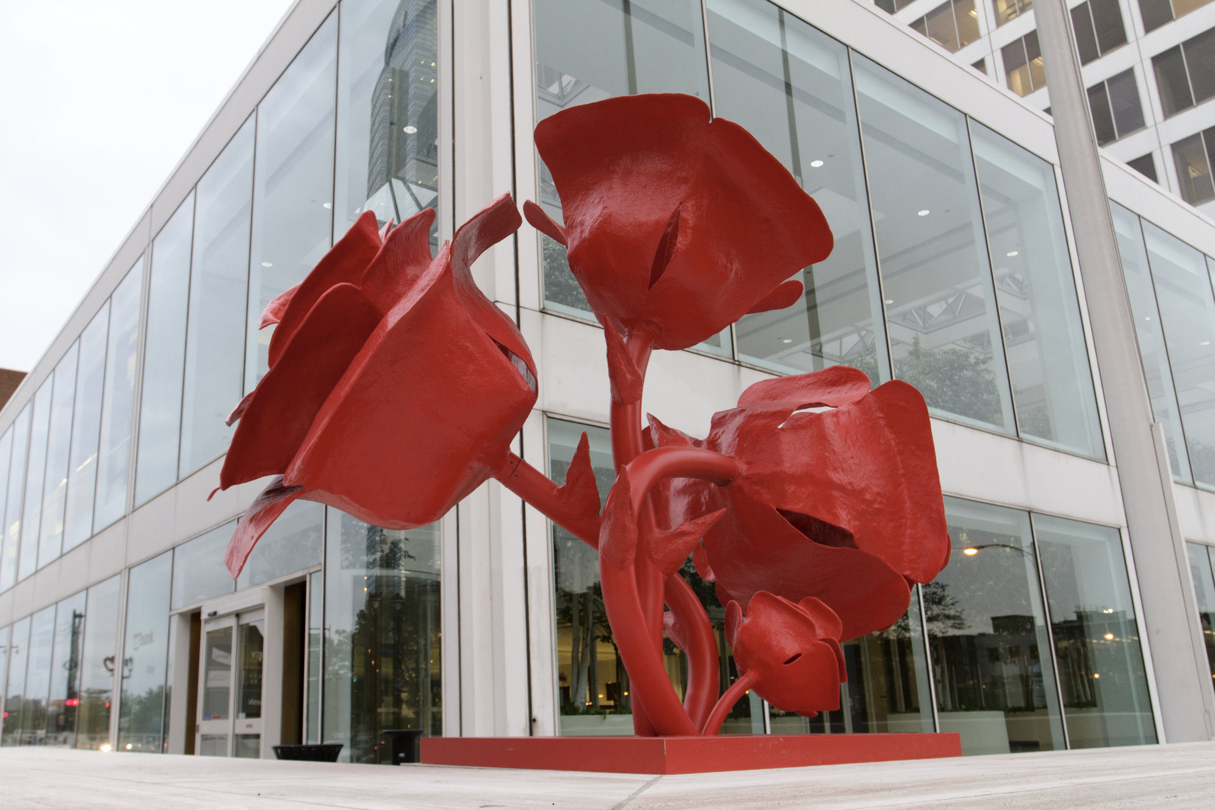 Be sure to stop during your visit to see the stunning artwork installed along Wisconsin Avenue every June - October.