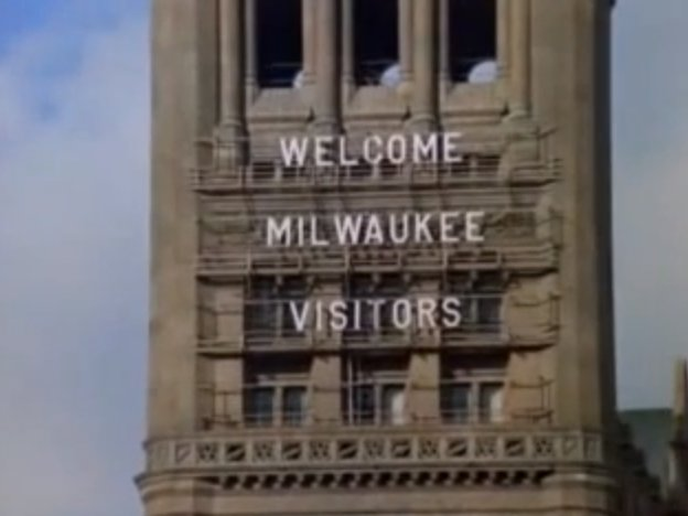 Milwaukee's City Hall adorned with messages