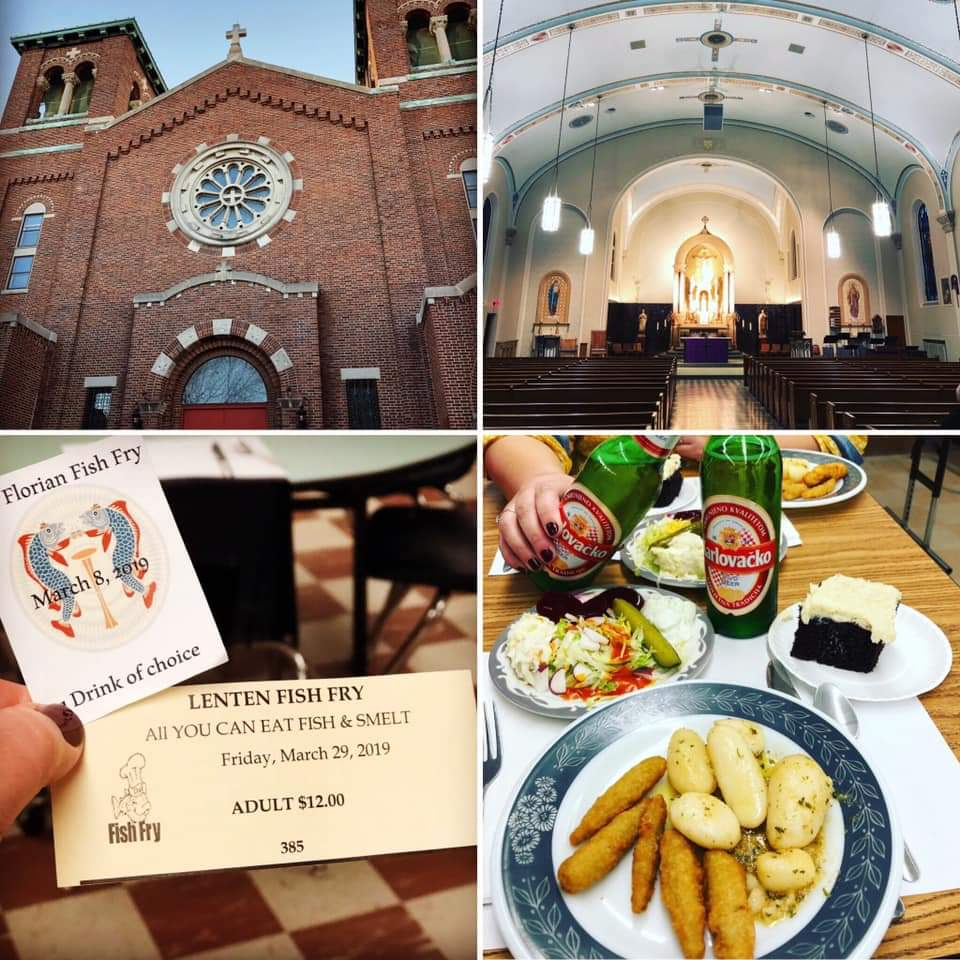 St. Florian's, located on 45th and Greenfield in West Milwaukee, serves it's homemade fish fry every Friday during Lent and on the first Friday of the month outside of Lent.
