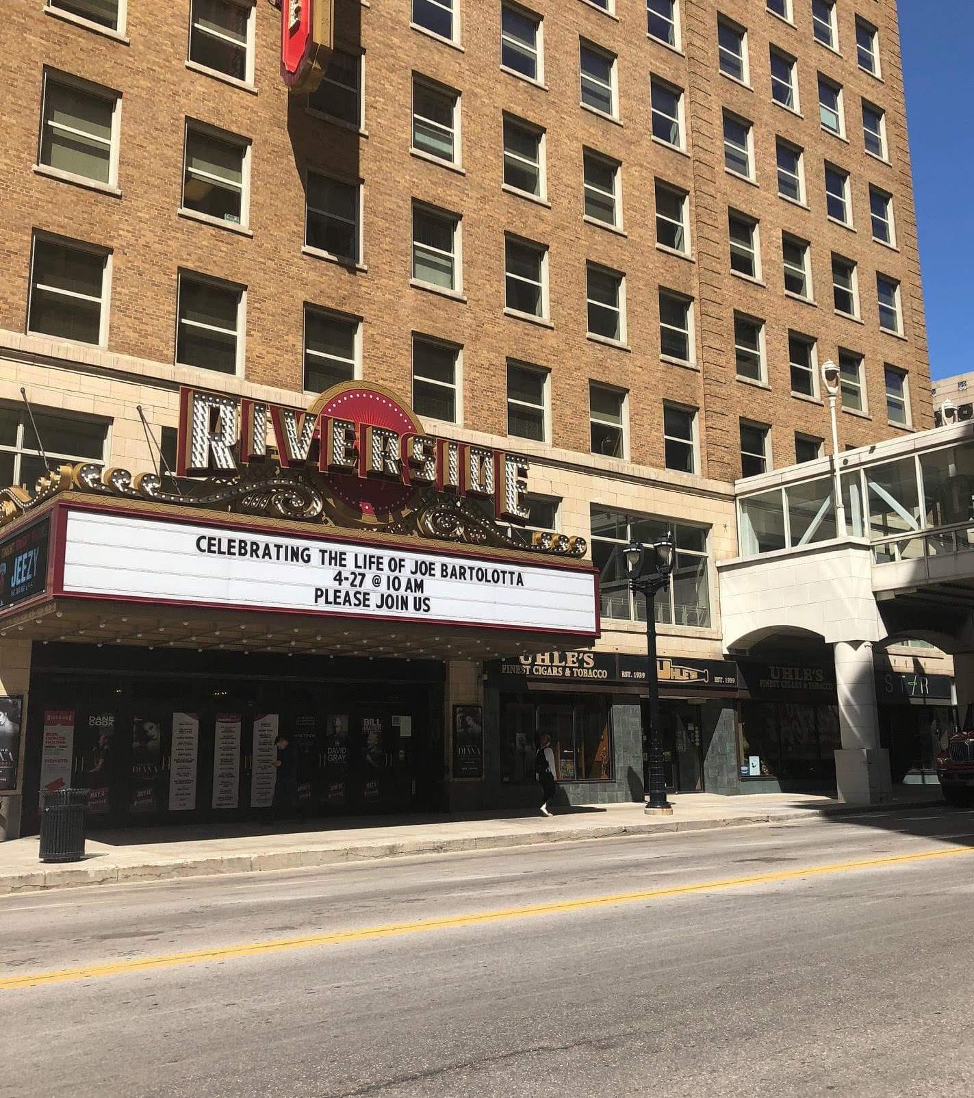 Downtown Milwaukee preparing for Joe Bartolotta's funeral at The Riverside Theatre.