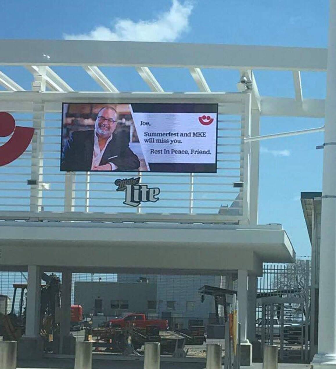 Tribute to Joe Bartolotta's impact on the Milwaukee lakefront
