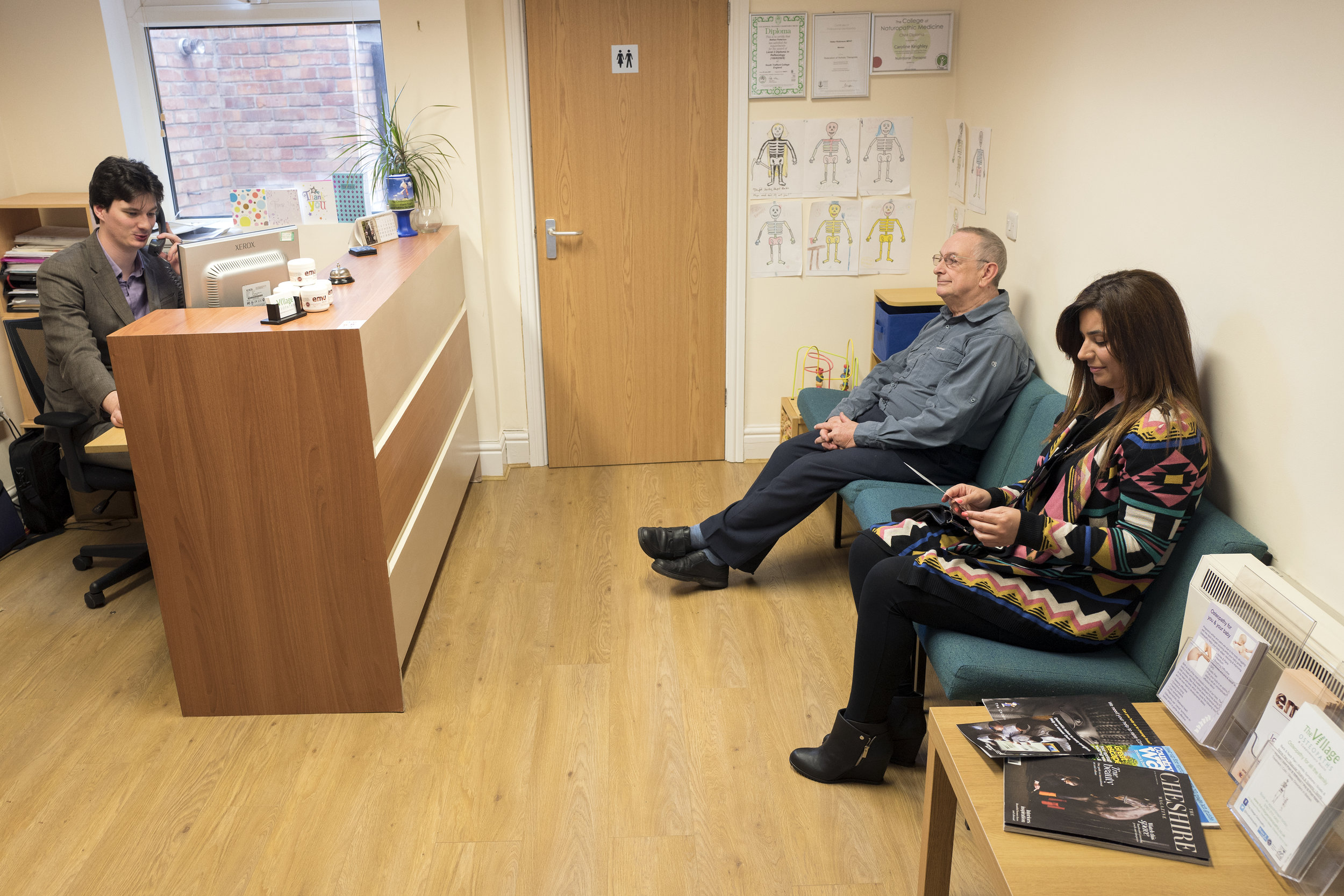 Warm, friendly clinic - We welcome patients of all ages, from babies through to the elderly, and you can relax in our waiting room with a hot or cold drink in our warm, friendly clinic.Our osteopaths ensure you receive high quality care and carefully consider each patients needs and individually tailor a treatment plan to bring you long-term benefits and pain relief.