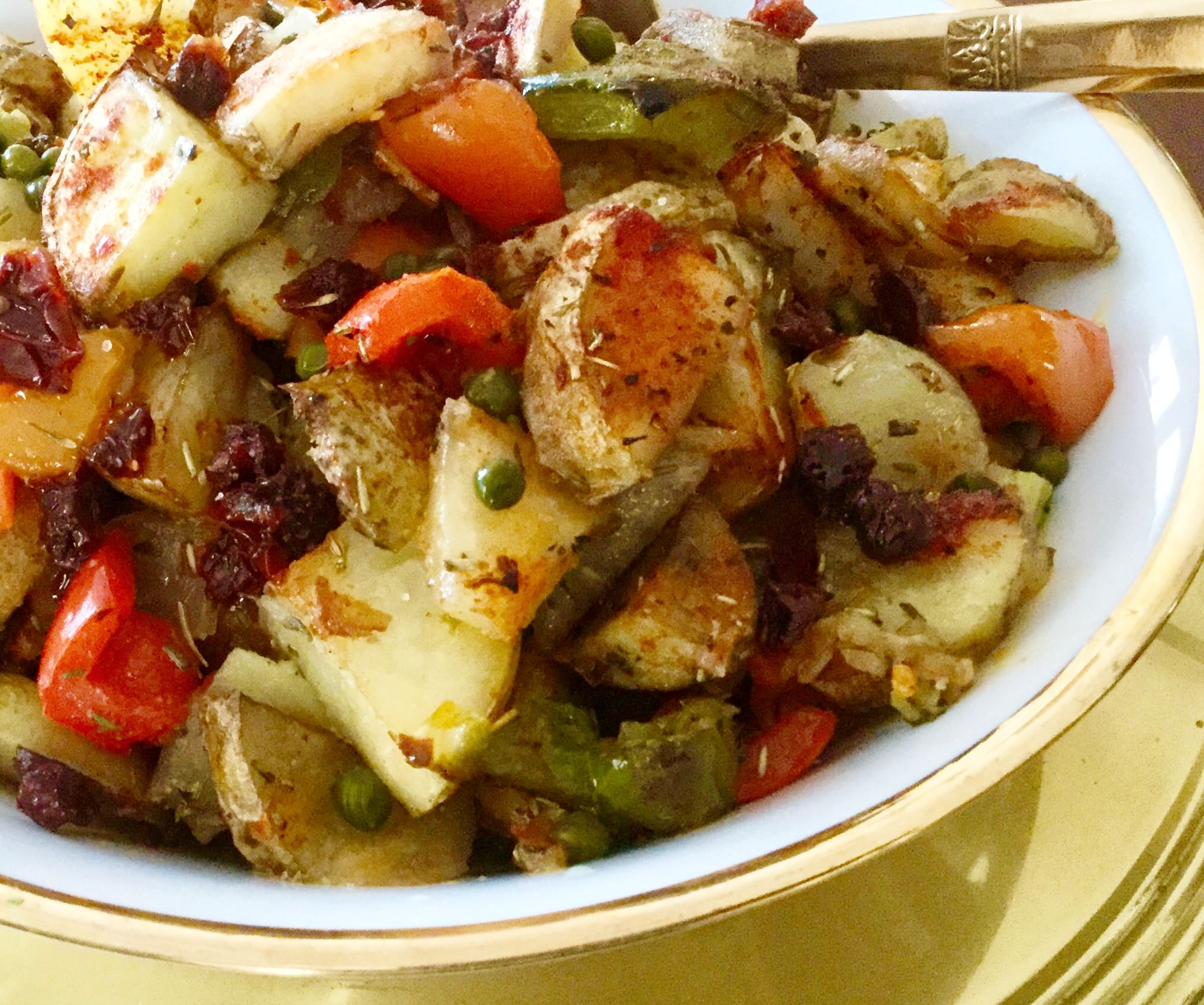 Roasted in Olive Oil & Herbal Seasonings, like Rosemary & Thyme