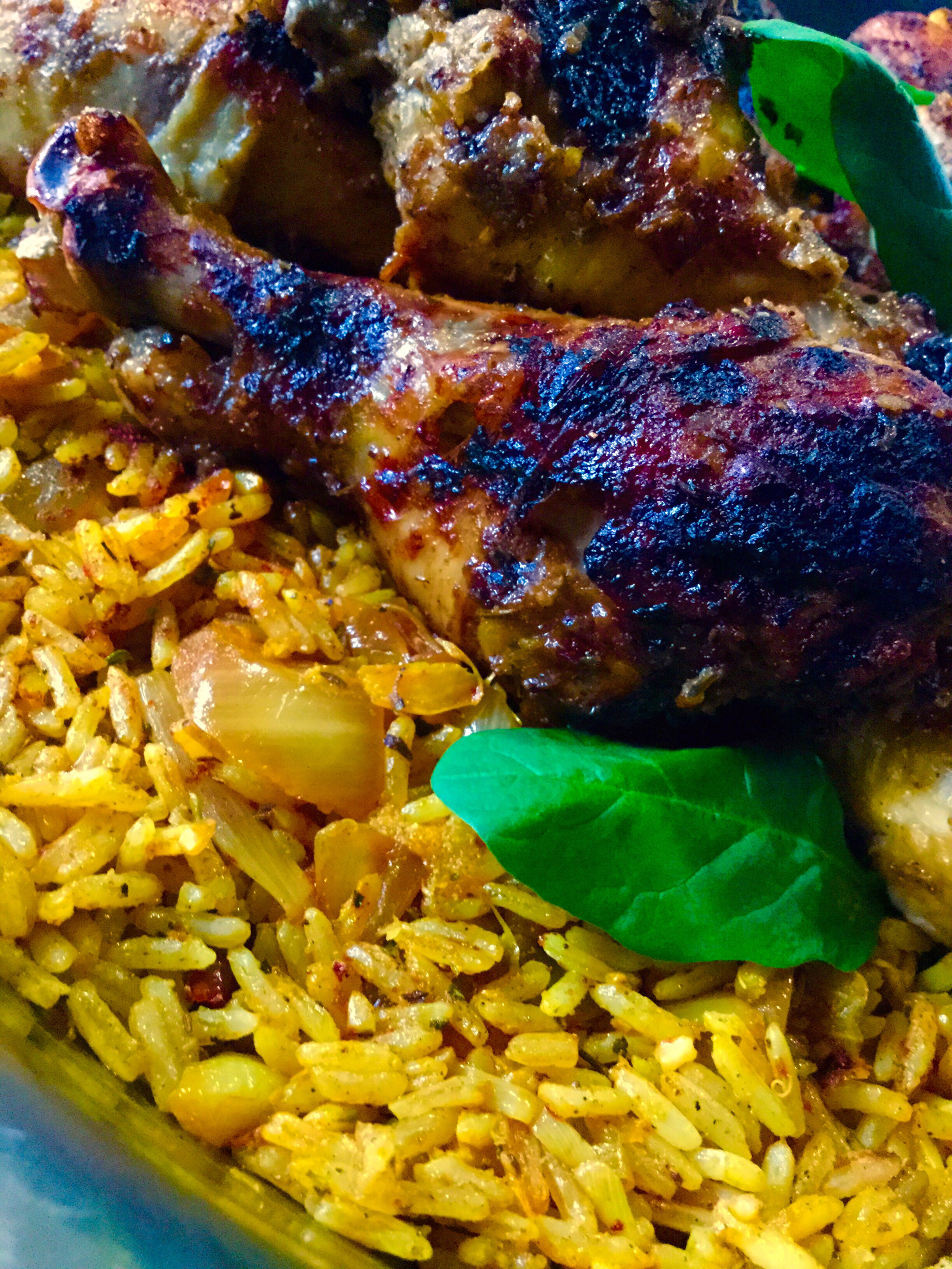 Mariby Corpening's Jerked Chicken & Rice