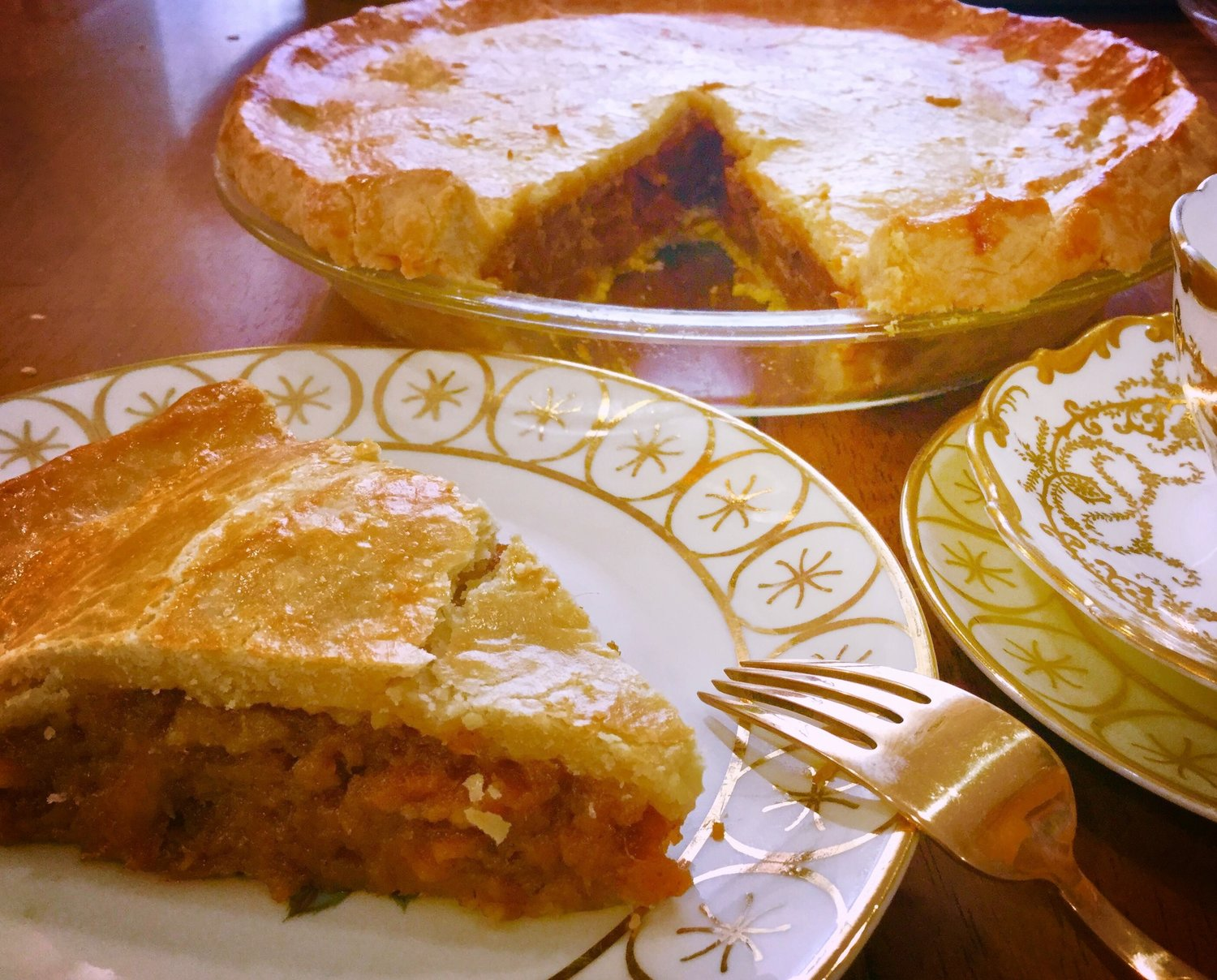 Mariby Corpening's Double-Crusted Pie With Roasted Sweet Potatoes