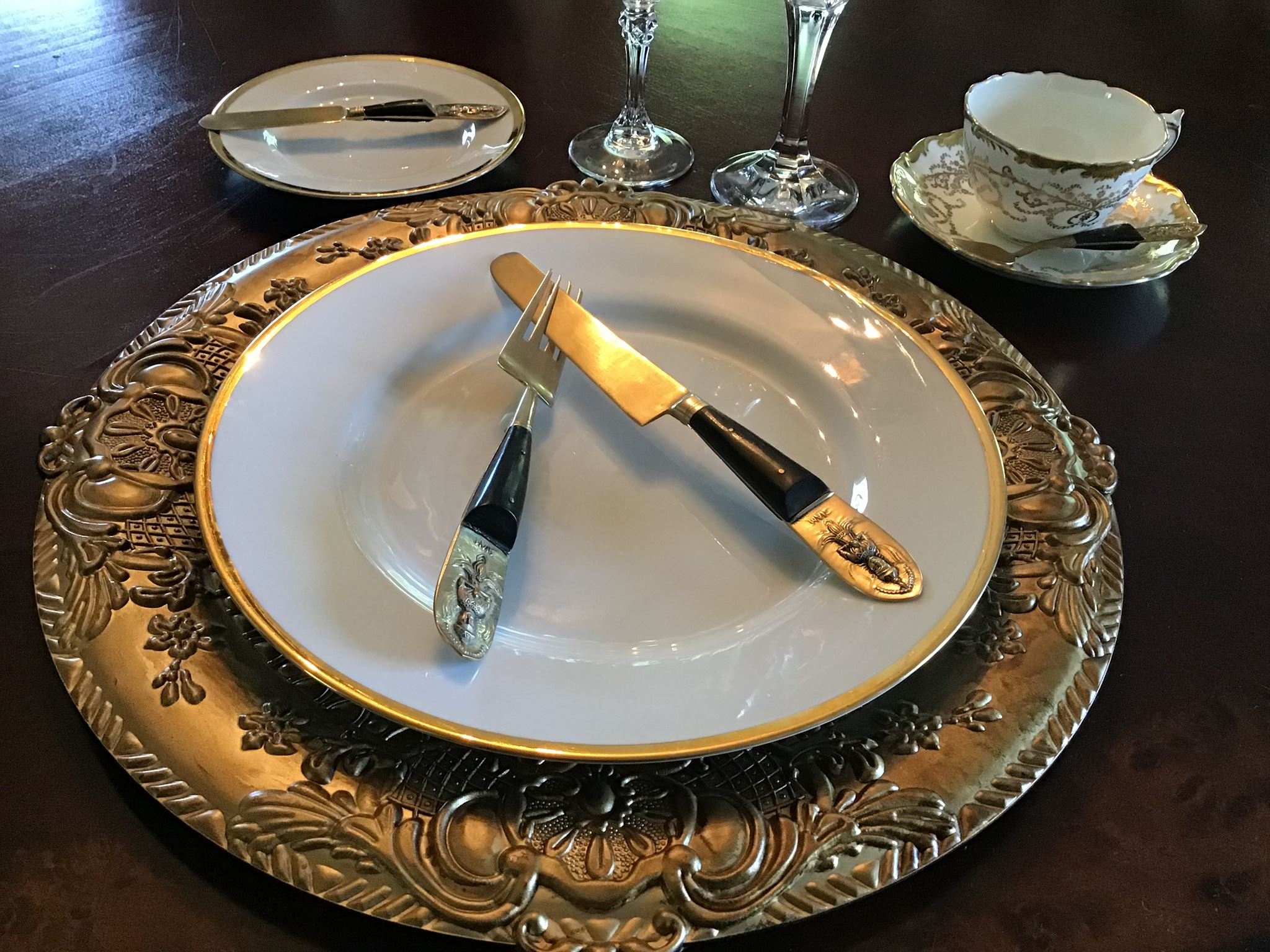 """Mariby Corpening's DID YOU KNOW: Table Etiquette No. 5 - By placement of utensils - """"I DID NOT LIKE IT!"""""""