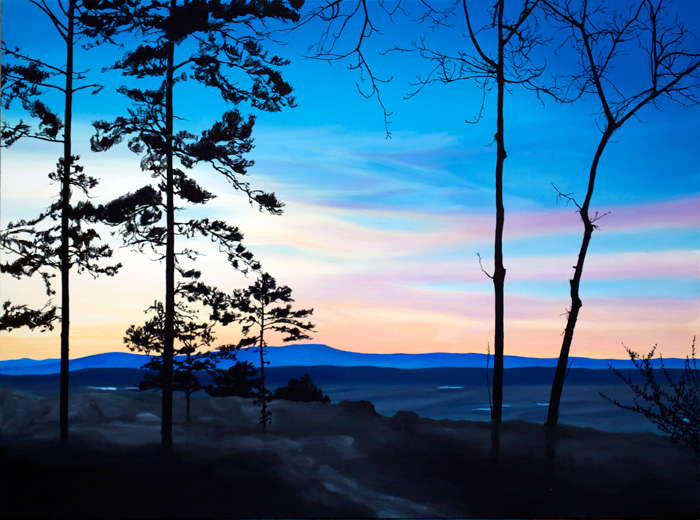 Sunset on Petit Jean, 2012, Oil on canvas, 30 x 40 inches