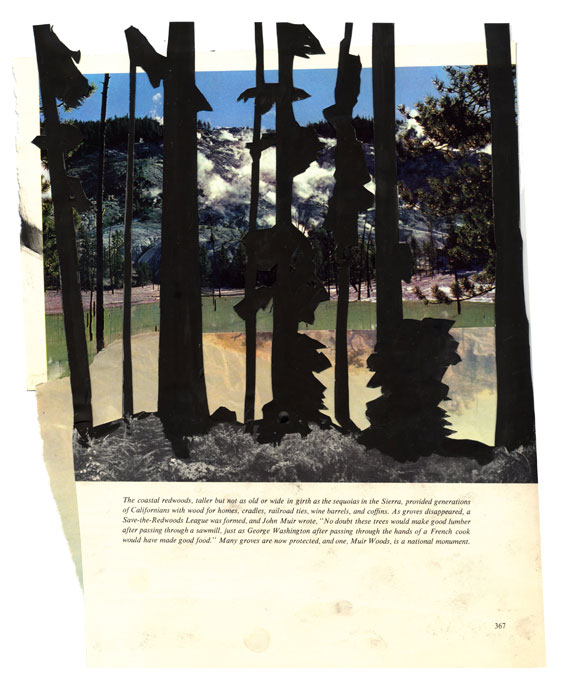 American Heritage #7, 2012, Gouache and magazine collage, 11 x 9 inches
