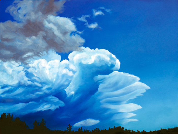 Ouachita Storm, 2012, Oil on canvas, 30 x 40 inches