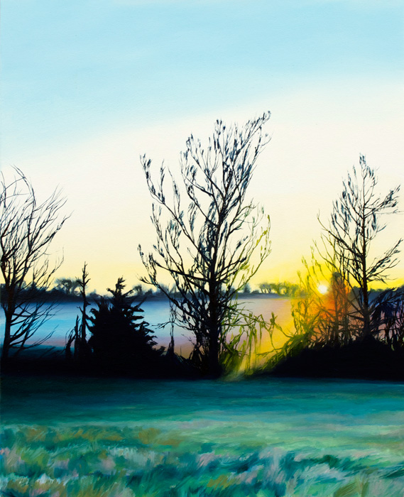 Spring Sunset near Hickory Hill, 2012, Oil on canvas, 20 x 16 inches