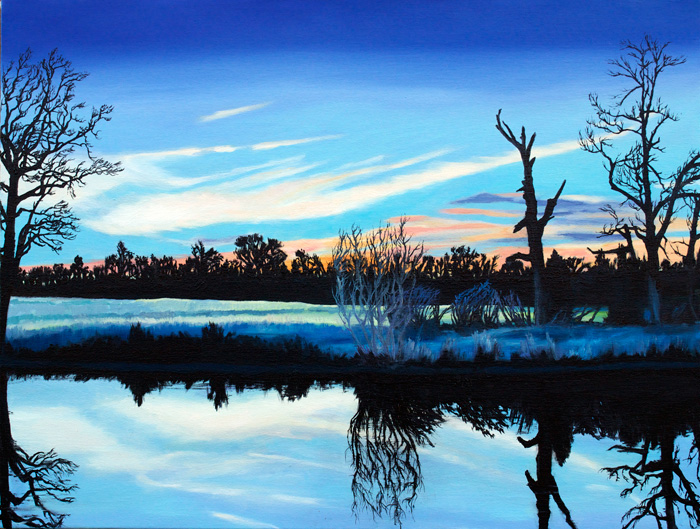 Turtle Pond, 2012, Oil on canvas, 18 x 24 inches