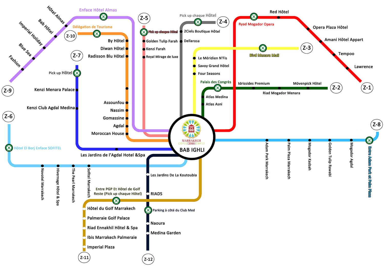 COP 22 BUS shuttle map