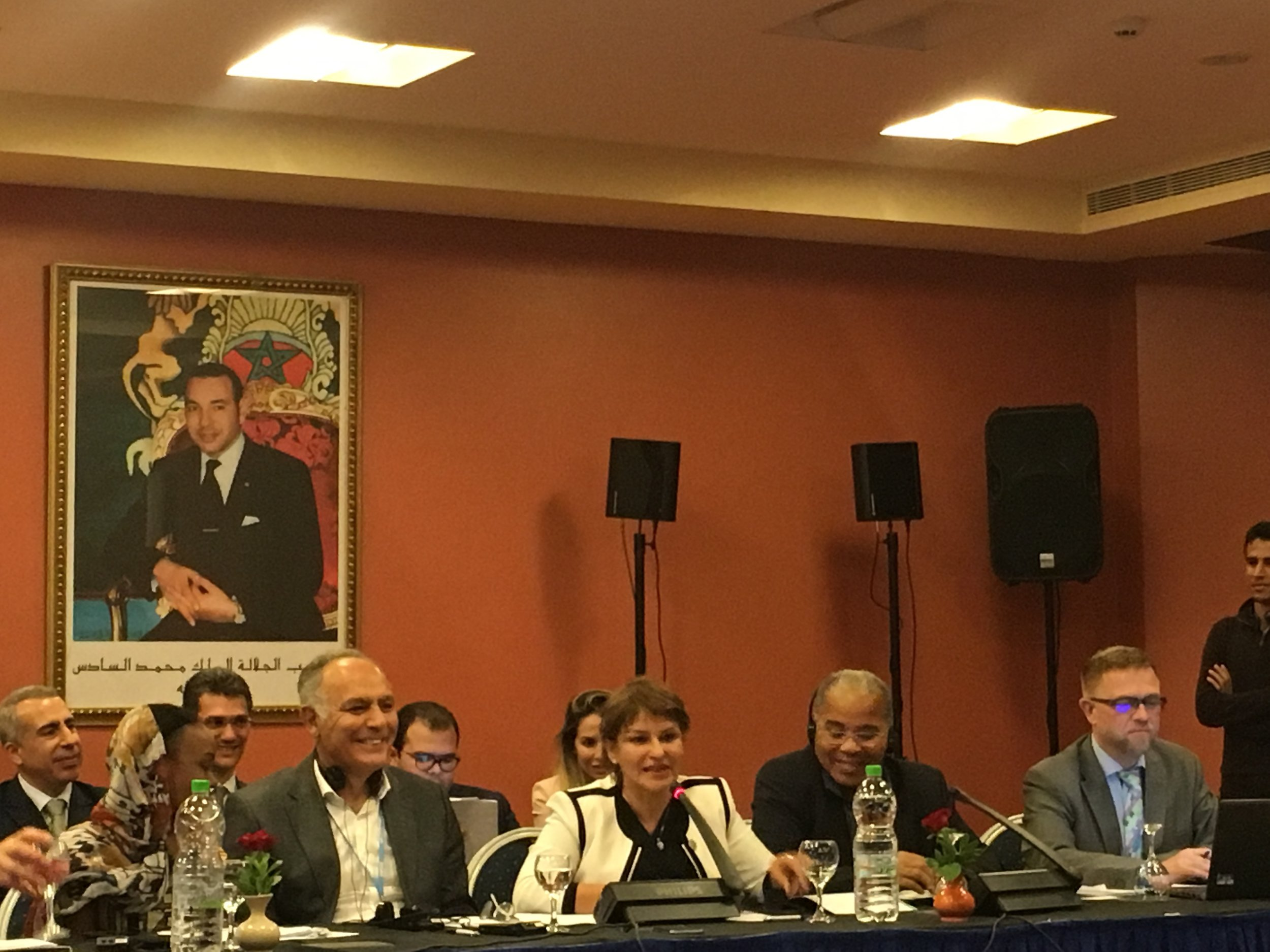 COP22 President Mr. Salaheddine Mezouar addressing to the International Indigenous Peoples Forum on Climate Change (IIPFCC).jpg