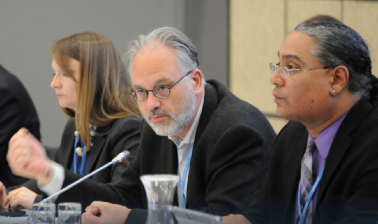 LCIPP Workshop Co-Moderators Paul Watkinson (middle) and Roberto Múkaro Borrero (at right)