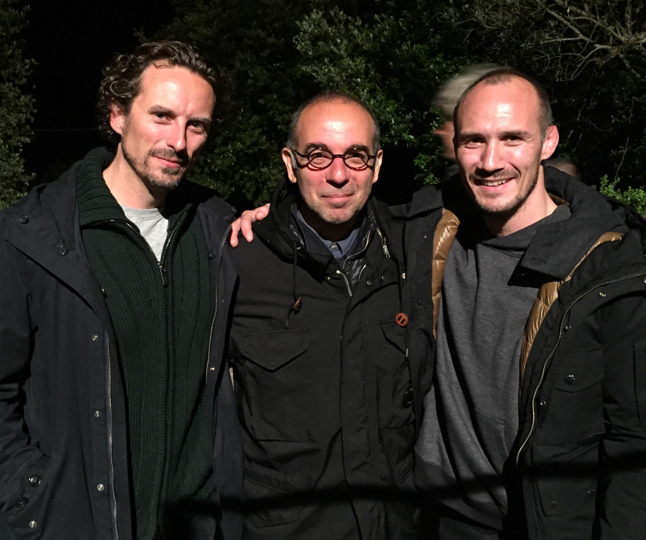 Director Giuseppe Tornatore, Actor James Warren and I