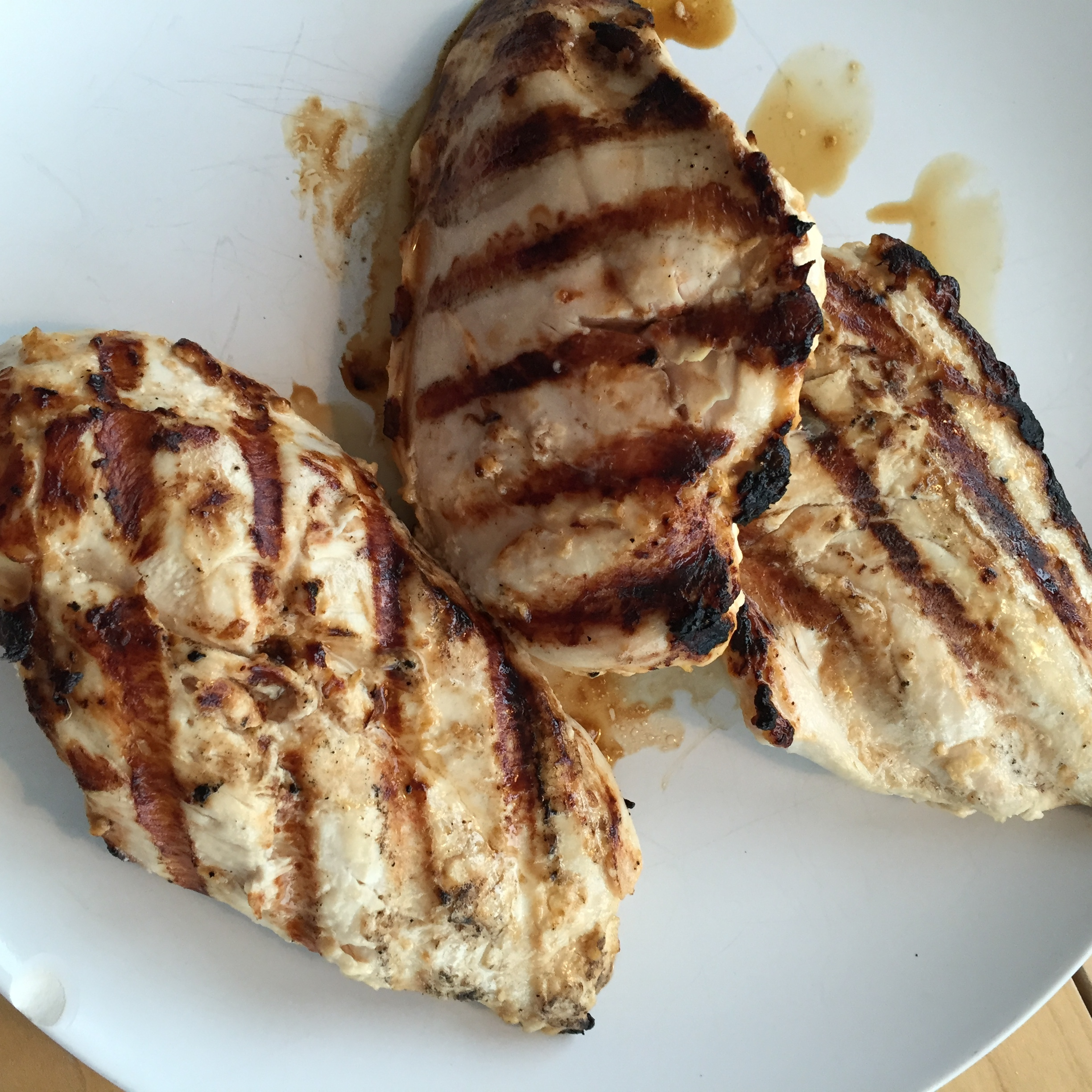 extra-juicy grilled chicken breasts