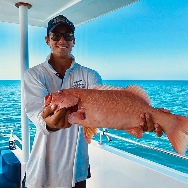 Meet Angus - our experienced #fishingguide ! Our crew on board #mvmonsoon are fishing and snorkelling enthusiasts! Come along and say G'day on a #privatetour of the #reef ! Contact us today to organise your very own #unique #experience of the #greatbarrierreef 🐠🐟🐬🐳 departing #portdouglas daily 💦💙💦