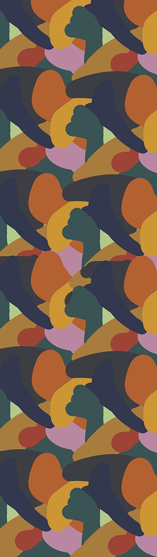 P aul Gauguin's ' Fatata te Miti' (By the Sea) inspired hospitality rug design. Digital rendering.