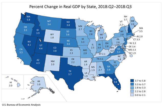 Percent Change in Real GDP by State.png