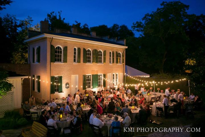 I want to party here! Kyle & Katelyn's gorgeous wedding reception was held at the Bellamy Mansion. Oh I still drool over this picture, that perfect setting, and the gorgeous bright floral designs!  **Photo by  KMI Photograhpy