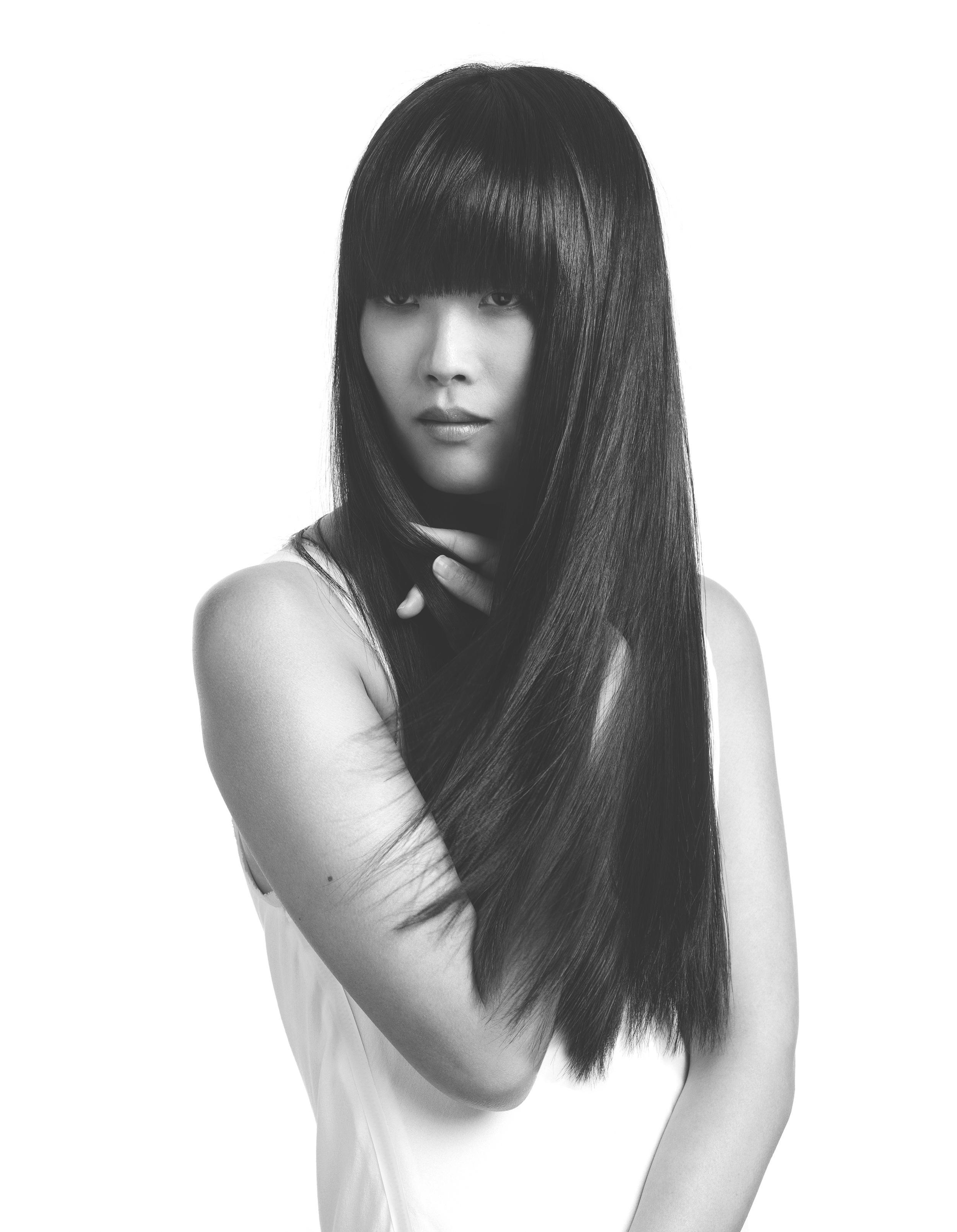 Model of Yuko hair straightening London - Hiro Miyoshi