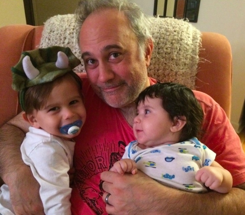 Proud Father: Jim with Nicolas and Emilia