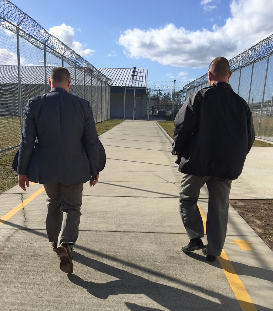 Representative David Richardson on one of his surprise inspections at a prison facility in Florida.