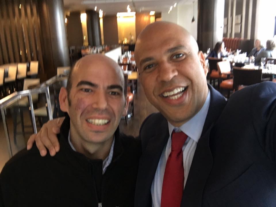 Elnatan & NJ Senator Cory Booker