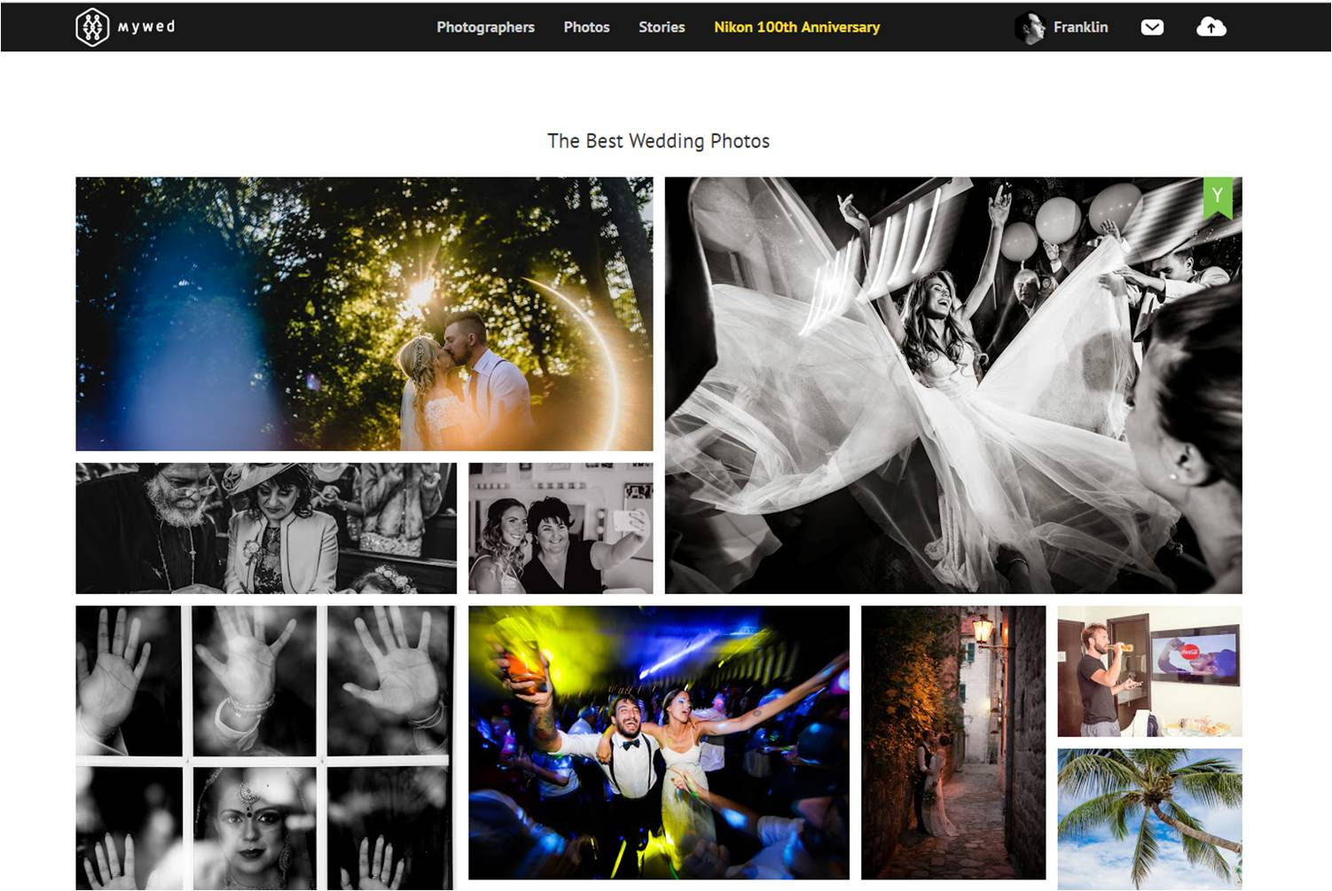 One of the images from this wedding was also featured on the main page of the best wedding photos of the international wedding photography website - www.mywed.com