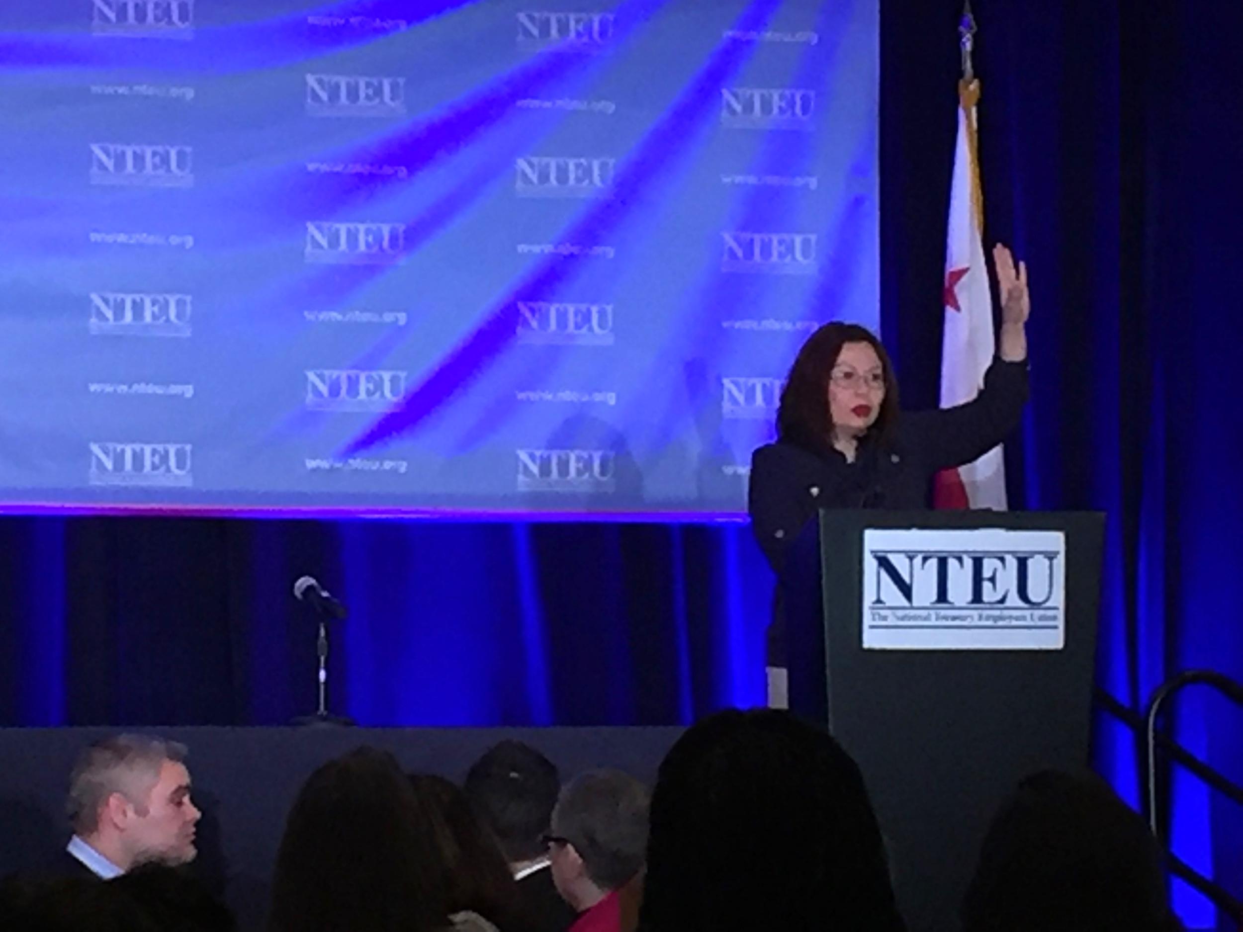 Congresswoman Tammy Duckworth delivers her inspiring speech to NTEU's Legislative Conference in Washington, DC.