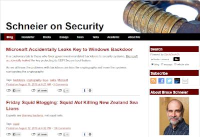 Bruce Schneier's  webpage .