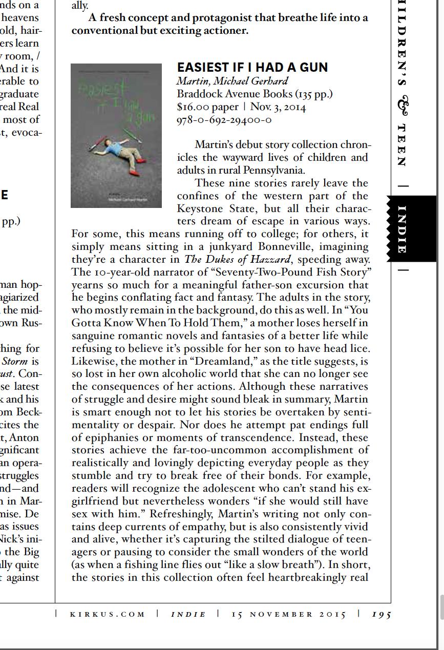 Kirkus Reviews  print edition (page 195)