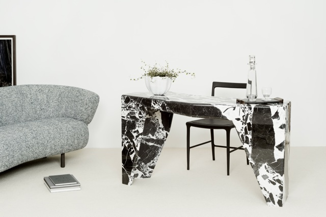 Jaz: Console in marble. Design by Christophe Delcourt
