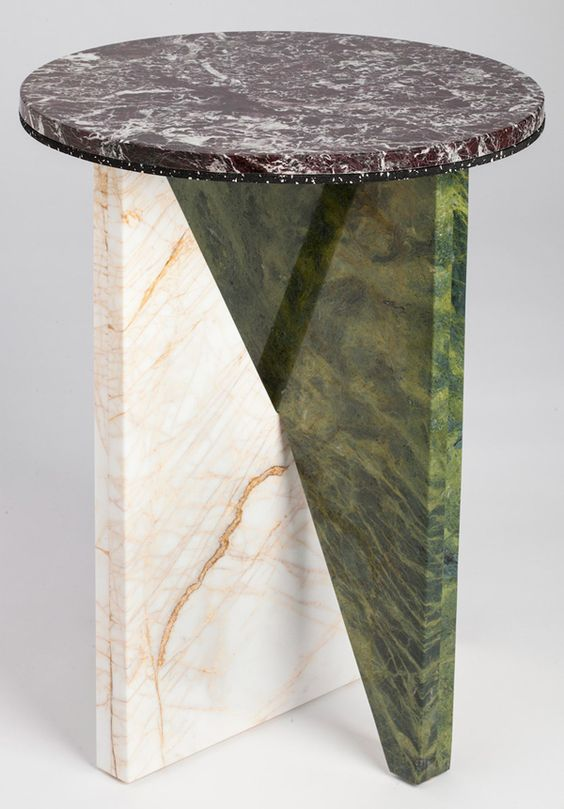 Affortdances #1 (you only reencarnated infinitely): Easy to samble marble table, each piece is unique. Design by Jonathan Zawada.