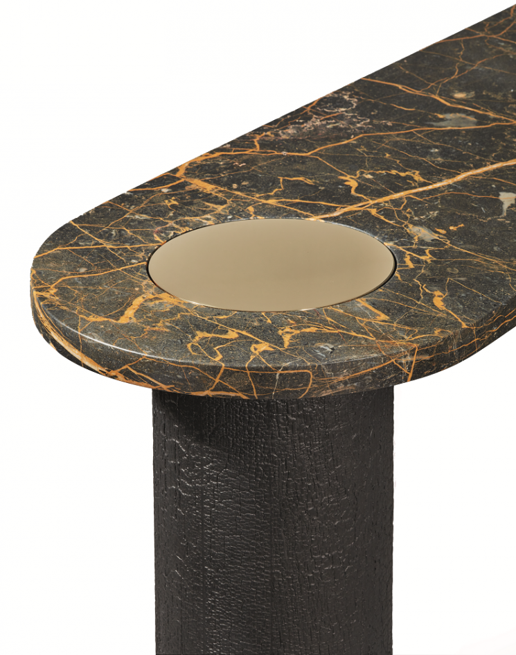 Gaia: Console detail. Design by Galerie Negropontes.