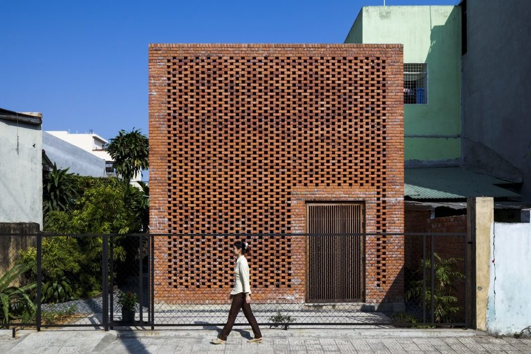 Front view of The Termitary House refurbishment by Architectural Studio Tropical Space in Vietnam as seen online.