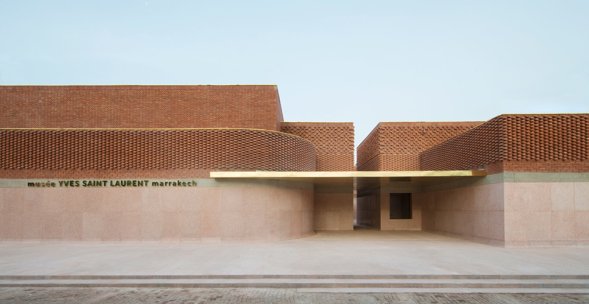 Entrance of Yves Saint Laurent Museum in Marrakech as seen www.yellowtrace.com.au & www.archidaily.com