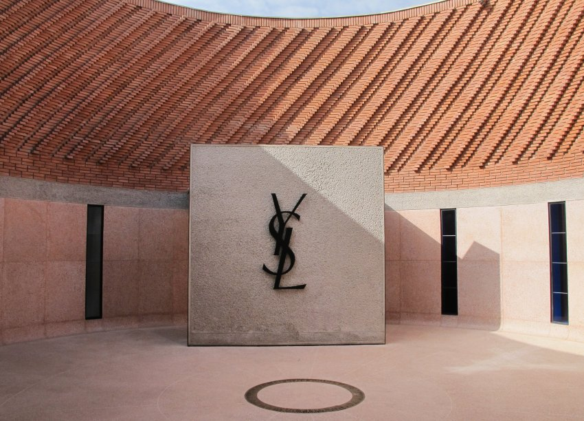 Inner courtyard in Yves Saint Laurent Museum in Marrakech as seen www.buro247.me