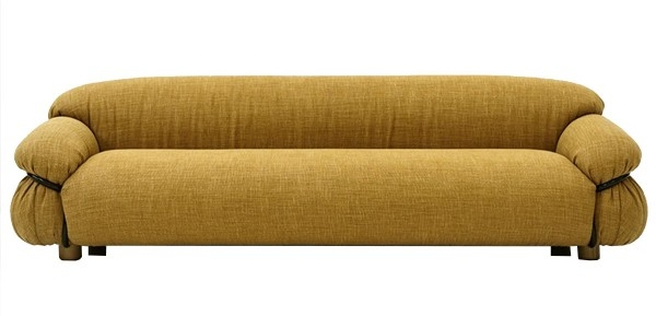 Sesann: Three seated upholstered sofa by Tacchini.