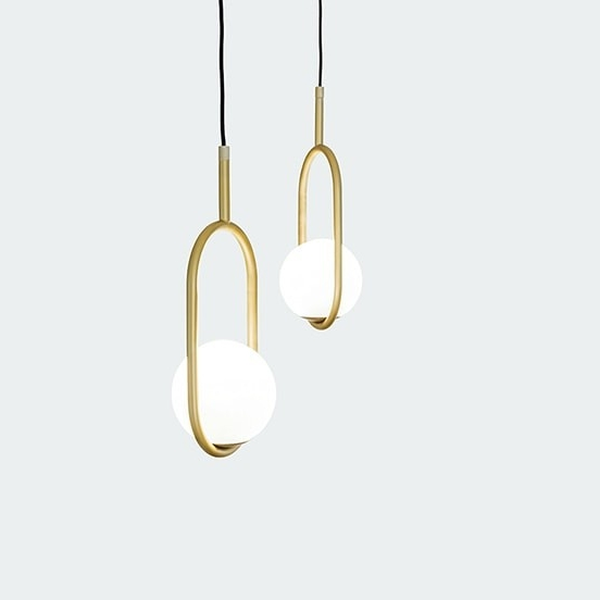 C-Ball S: Hanging lamp with semi-transparent glass balls by B.Lux