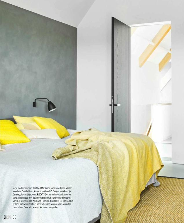 Bedroom at Boerderij 2.0 as seen on Eigenhuis & Interieur issue December 2017/ Photo credit: Alexander Van Berge.