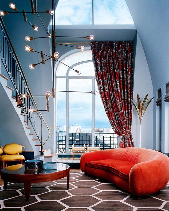 Saint Germain apartment in Paris by Dimore Studio as seen on Pinterest.