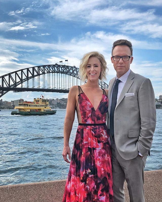 We're in Sydney for my most amazing friend's @laurenat85 wedding. Lucky that there are moments in life like this. 💕🐨💍 . . . #mollywinterstewart #amplifiedlife #keepitpositive #broadway #performer #artist #brooklyn #nyc #sydneywedding #sydneyharbour