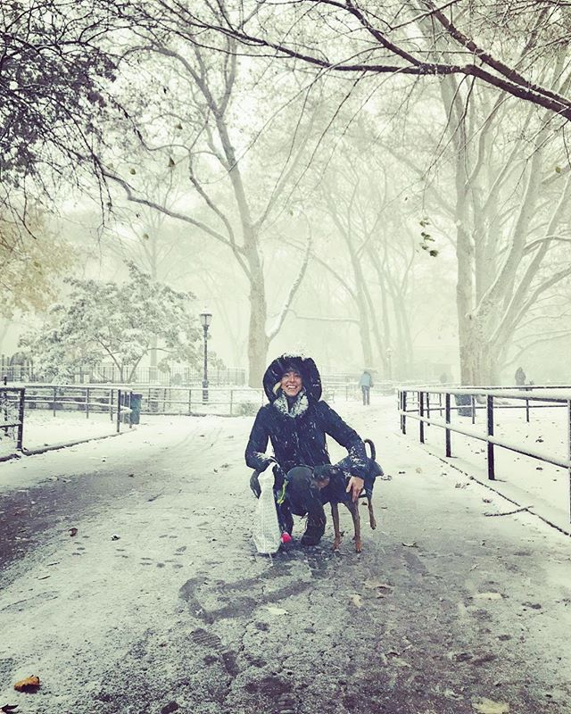 Didn't expect the first snow of the season to be so early or to look quite like this! ❄️❄️❄️ . . . #mollywinterstewart #amplifiedlife #keepitpositive #broadway #performer #artist #brooklyn #nyc #mcgolrickpark #firstsnow #brrrr